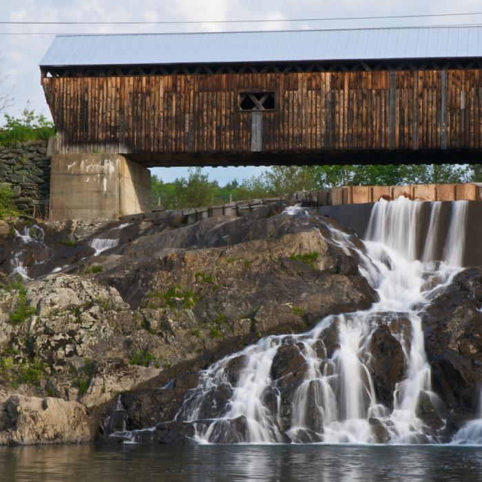 16. East Willard Twin Covered Bridge and falls.