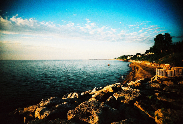 ... So we try to only surround ourselves with the beauty of summer beaches, such as this one on Lake Michigan.
