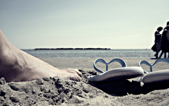 8. Dig your toes in the sand...
