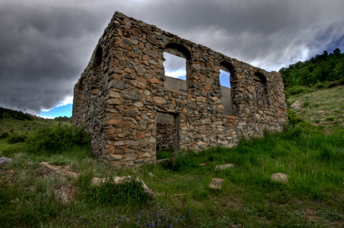 5.) Stone Structure in Caribou, Colorado