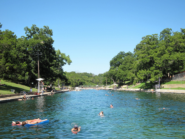 3) Cool off at the Barton Springs Pool in Austin.
