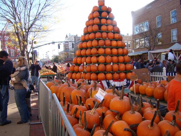 13) Circleville Pumpkin Show (October) where pumpkin flavored burgers. waffles, and chili lives.