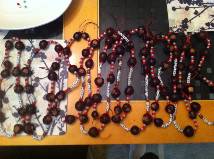 2) Also, making/selling buckeye necklaces/key chains during football season.
