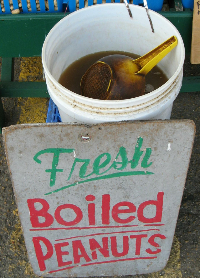 """12. Boiled peanuts - I can't tell you how many times I have seen my mom cook a huge pressure cooker full of these! Salty goodness in a shell. Some like them hot and some like them cold. I just say, """"Give me that bowl!""""."""