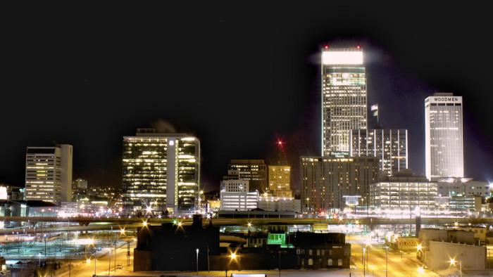 2. Omaha skyline at night, Omaha, NE
