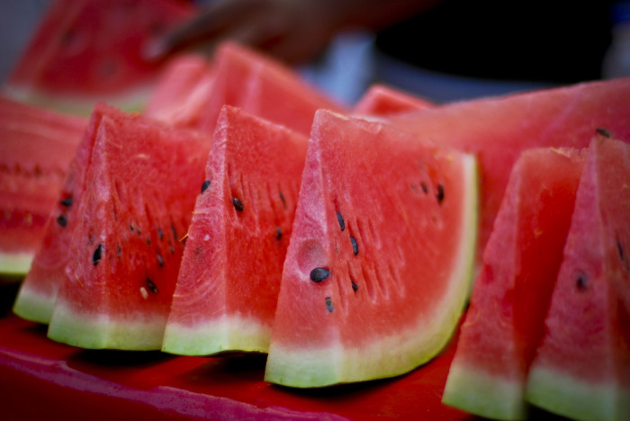 7. We have our very own watermelon, the Bradford, which is still happy at home in Sumter, SC.