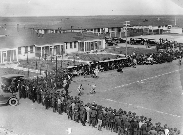 3) In 1920, the New York Giants played against Kelly Field in Texas.