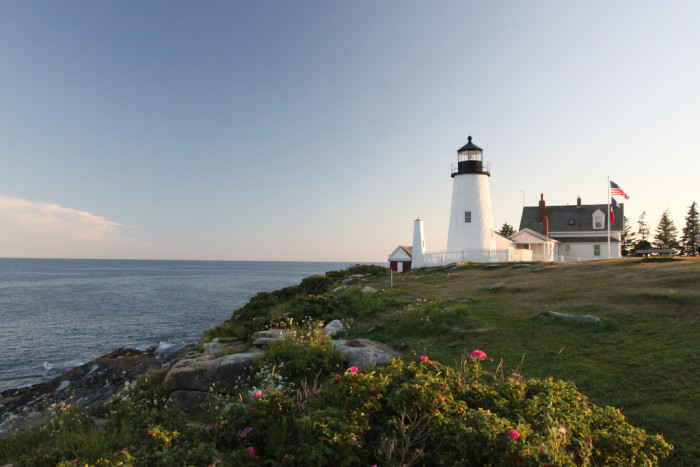 12. Pemaquid Point Light located in Bristol, Lincoln Co., Maine.