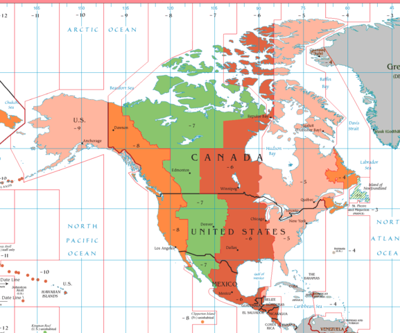 18) Had to explain you live in the Eastern time zone.