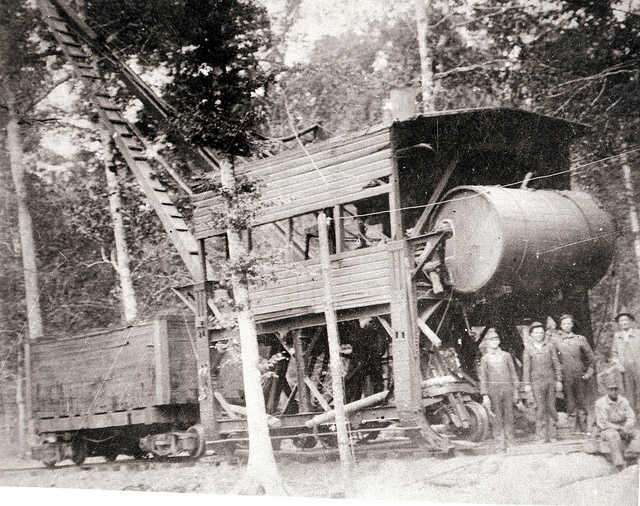 12) Kirby's McCartney log loader in Kirbyville in 1916. My mom is from the nearby town of Call, so the nostalgia is definitely setting in now.