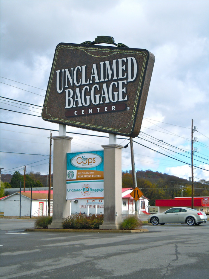 13) Have you ever wondered where your lost luggage ends up? Chances are you'll find it in Scottsboro at the Unclaimed Baggage Center - the world's only lost luggage store.
