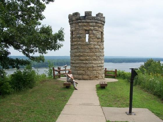 5. Julien Dubuque Monument: Located in Dubuque, this Late Gothic Revival tower is perfectly perched at the height of a bluff, which makes it the perfect lookout tower for spotting roaming armies nearby.