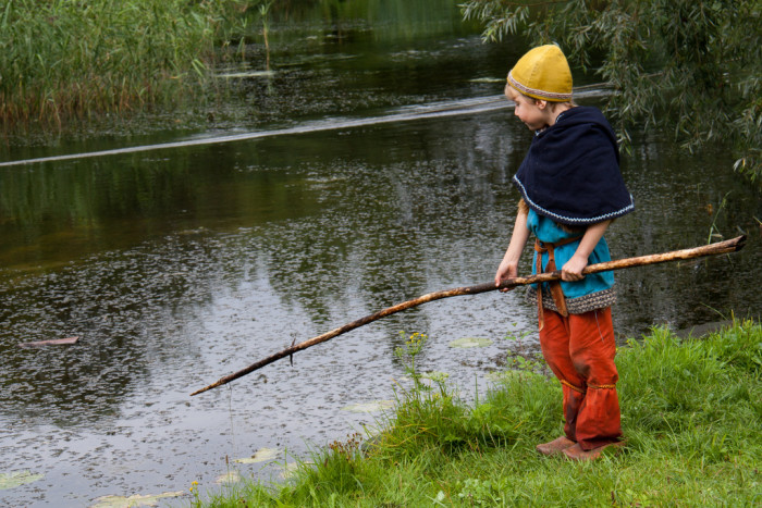 6. Take the children fishing.