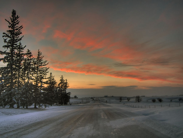 6. A warm sunset on a cool winter day.