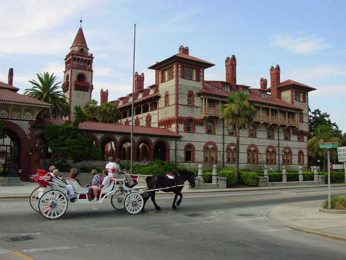 7. Make her feel like a princess with a carriage ride through St. Augustine.