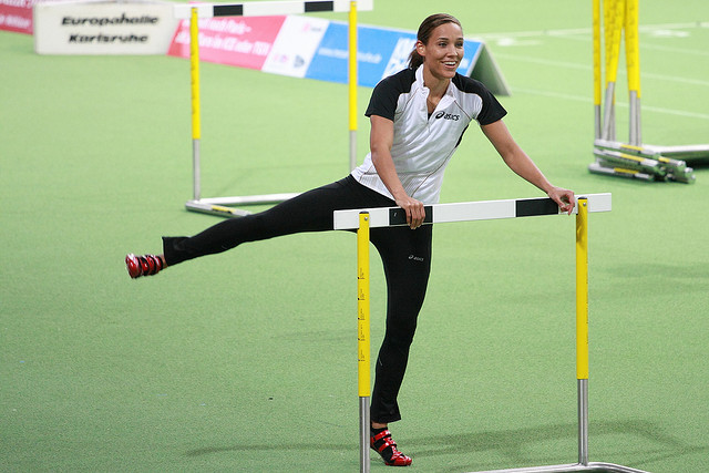 6. Lolo Jones: Olympic athlete Lolo Jones has won both USA and World Championships in hurdle events. Jones was born in Des Moines, and went to Theodore Roosevelt High School.