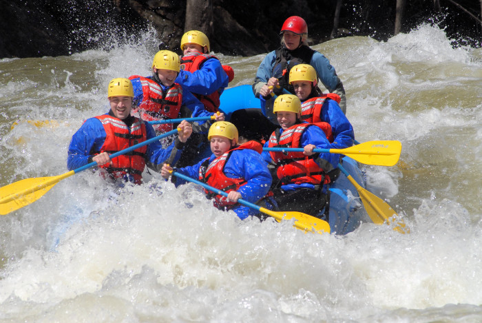 4. Get adventurous and go whitewater rafting.