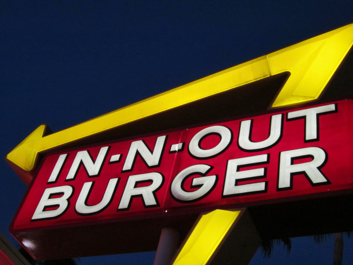 2) An In-N-Out Burger because it seems un-American to not have one.