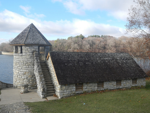 5. Backbone State Park: This squat castle tower and shelter would be right at home in Middle Ages Europe, but instead, it's located at Backbone State Park in Dundee, Iowa.