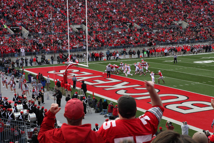 1) Buckeye fans and Ohio State football.