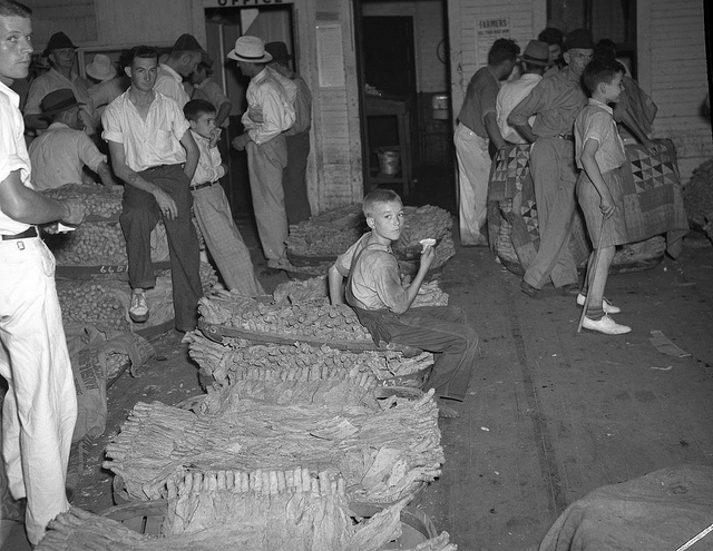 11. 1938, a tobacco warehouse in Rocky Mount.