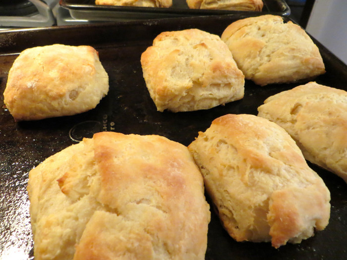 16. Biscuits - homemade, hot out the oven goodness. We used to have them at every meal and my mom was a master biscuit maker. They are so versatile that you can have them with jams, jelly or, my favorite, with fatback and fried potatoes.