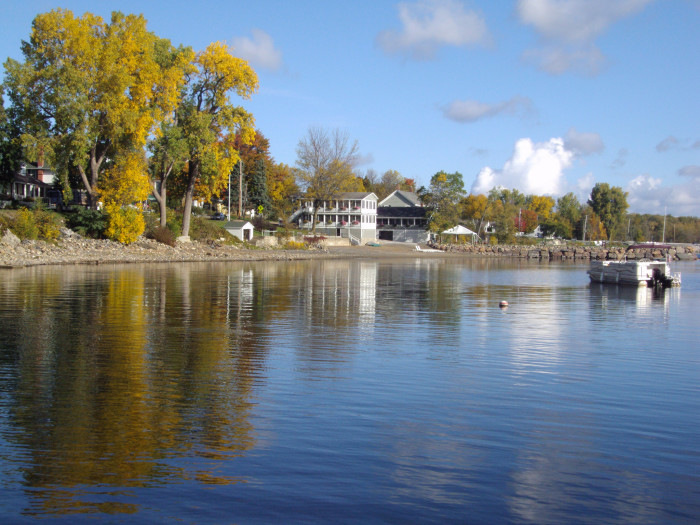 1. Lake Champlain boasting crystal clear waters.