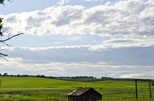 20. A beautiful post-storm sky in Arnegard, North Dakota