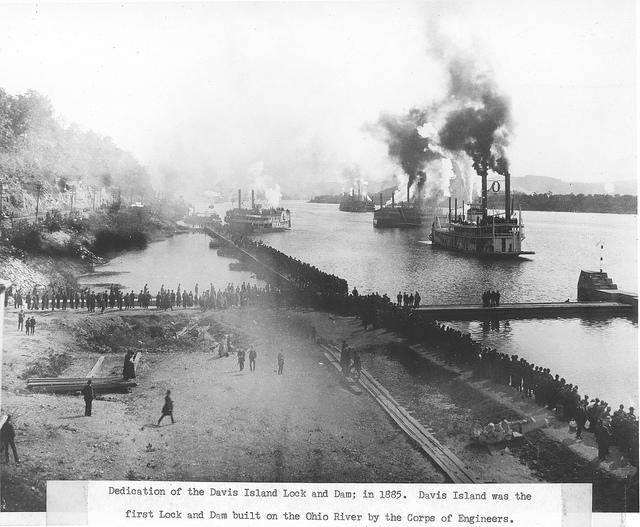 4. Commemoration of the Davis Lock and Dam, 1885