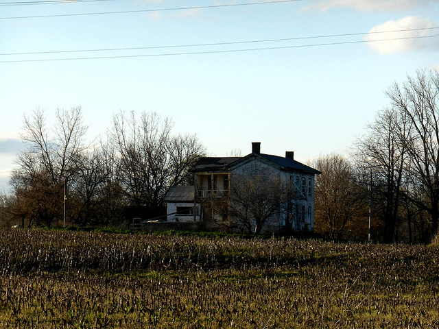 6. This particular farmhouse is located at S County Road 1025 East in Indianapolis. While it is not a special or well-known building or business, Indiana is known for being a state of farmers. Scattered all over the state you can find abandoned farmhouses like this one being reclaimed by nature.