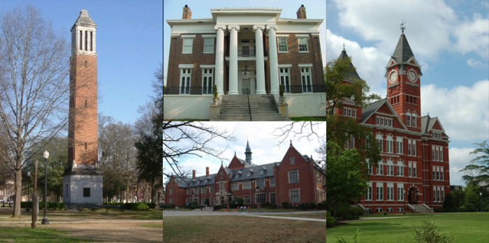 2) Alabama is home to many prestigious colleges and universities.