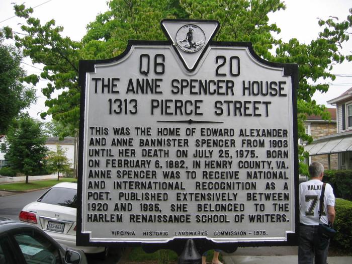 Anne Spencer Sign