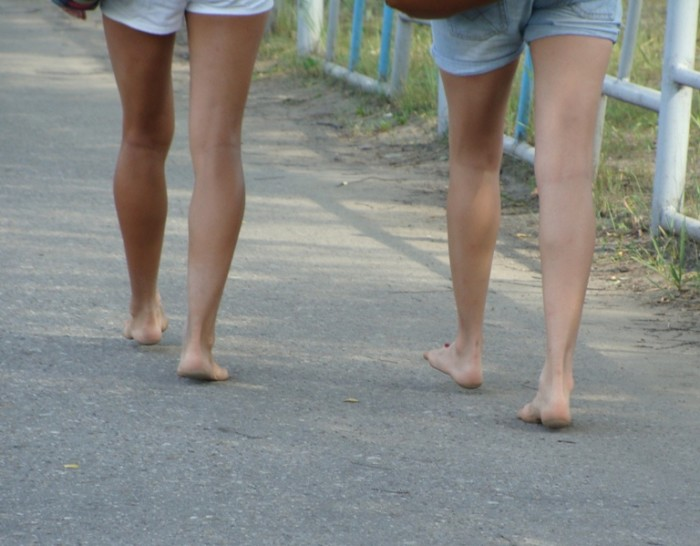 3.	Kentucky women always run around barefoot? Not so… we wear shoes when we go out and pavement is hot in the summer.