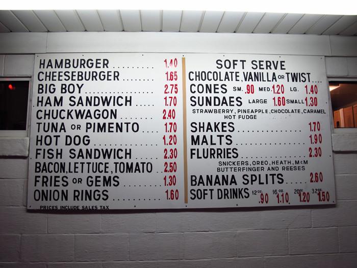 9A. The Dipper menu.