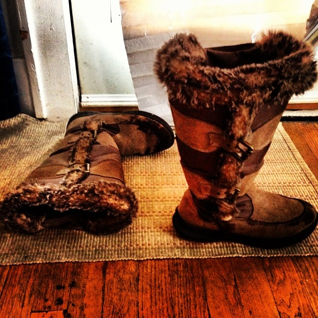 9) Got excited to retire your winter boots for the season.