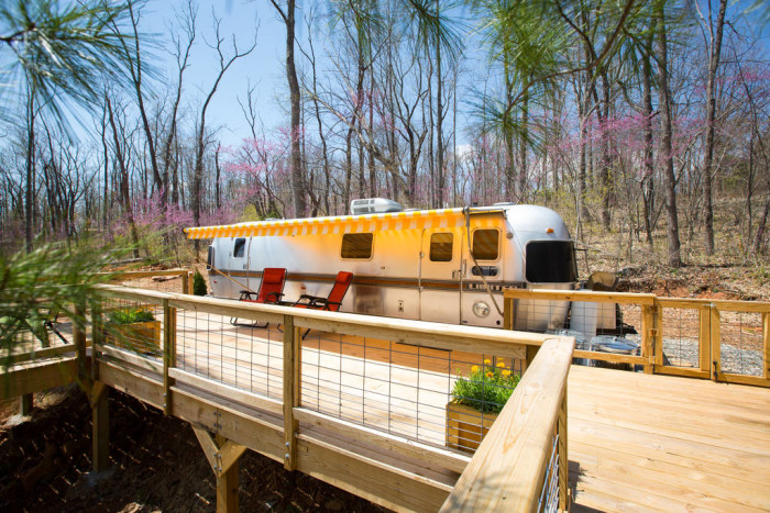 Cair Paravel Airstream in the trees