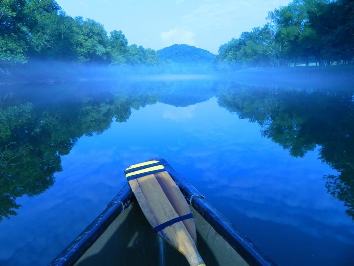 8) The mist on the water