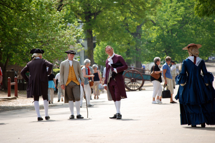 1. Gone on a field trip to Colonial Williamsburg.