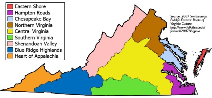 23. Argued the virtues of Northern Virginia vs. Southern Virginia vs. Eastern Virginia vs. Western Virginia.