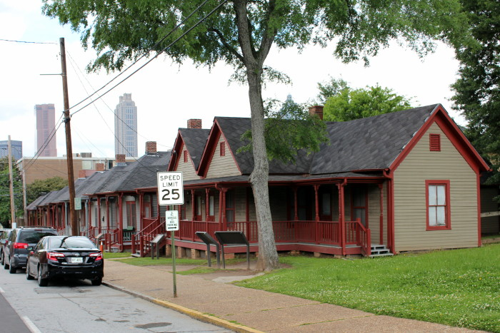MLK Historic Site: Dougle Shotgun row houses
