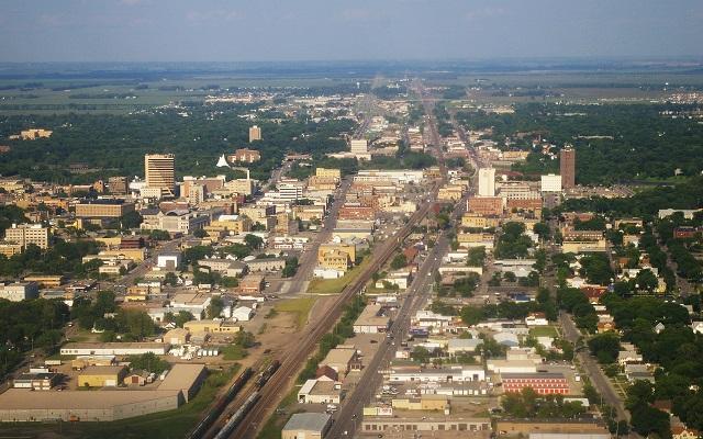 2. Downtown Fargo - the largest city in North Dakota