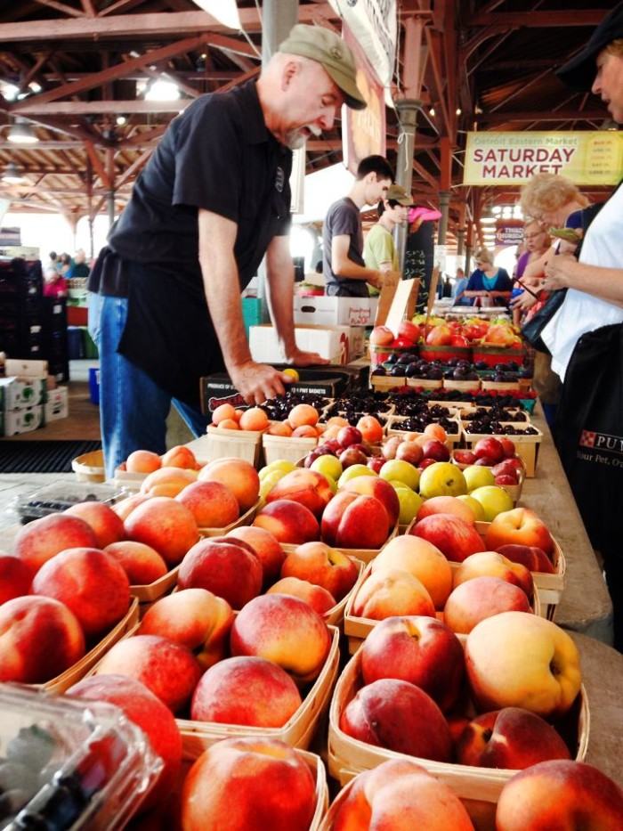 5) Something you can easily toss into a picnic basket, like these farm fresh peaches at Eastern Market