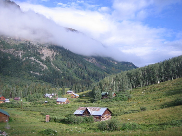 15.) Cabins in the Rocky Mountain Biological Laboratory in Gothic, Colorado