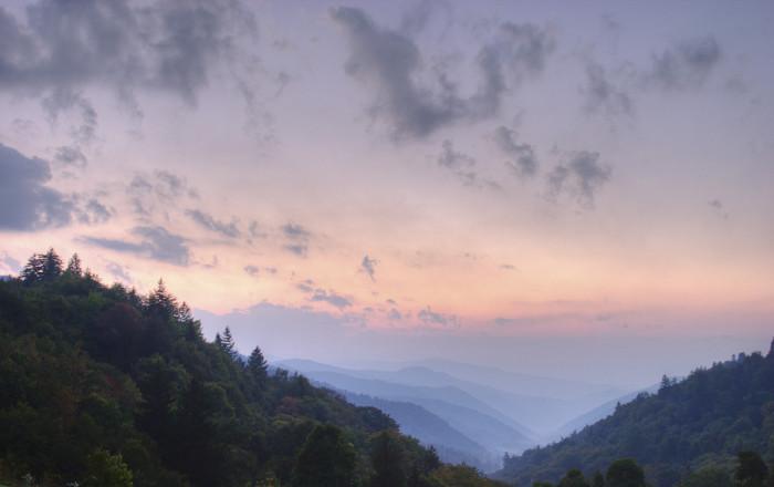 6) Take In A Great Smoky Mountain Sunrise
