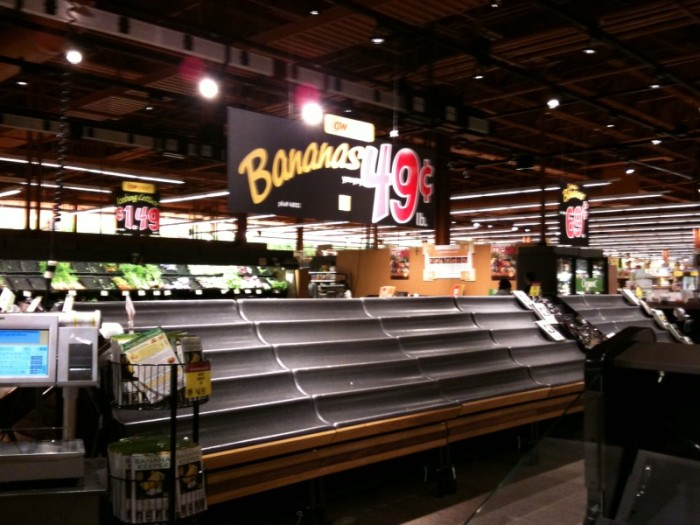10. The grocery store before a snowstorm.