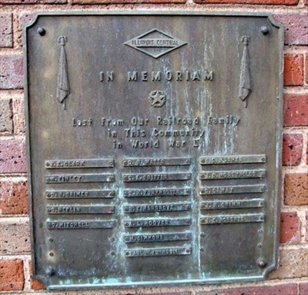 8. Illinois Central Railroad WWII Monument in Paducah