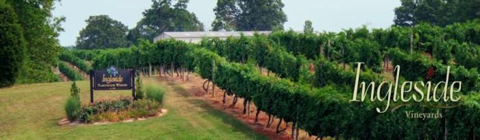 Go wine tasting at Ingleside Vineyards in Oak Grove.