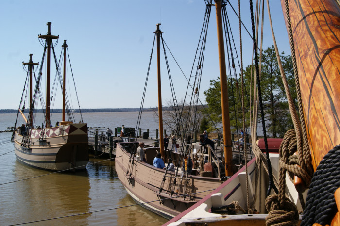 Go back to where it all began at the Jamestown settlement.