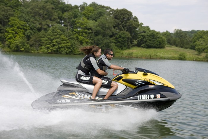 12. Whether you're on the lake or in the ocean, hop onto a jet ski, hang on tight, and most importantly, HAVE FUN!