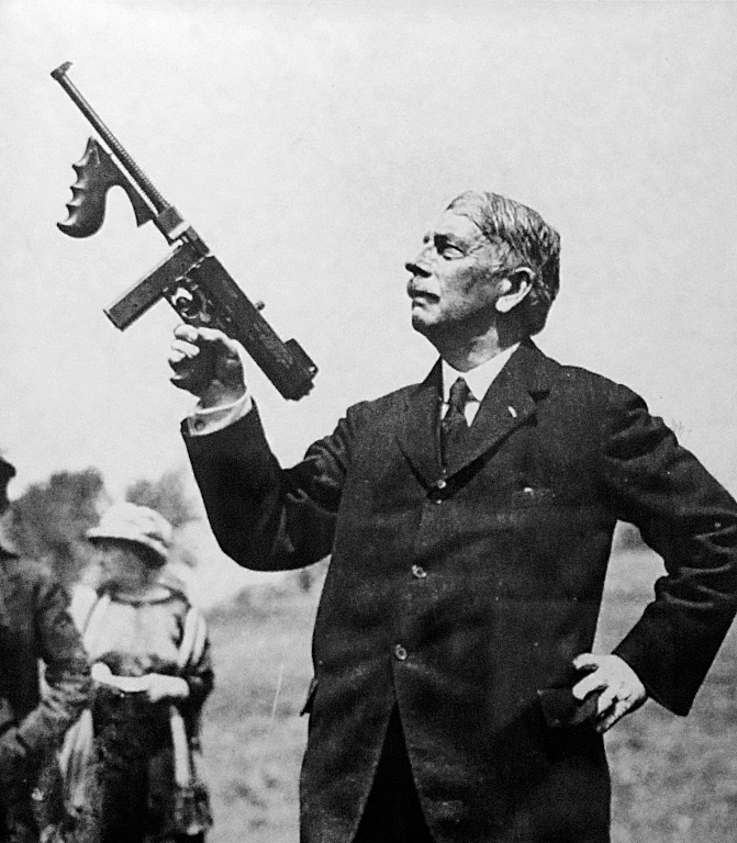 5. John T. Thompson was born In Newport in 1860, and lived till 1940. During his lifetime he invented and perfected the Thompson Submachine gun, aka Tommy Gun.